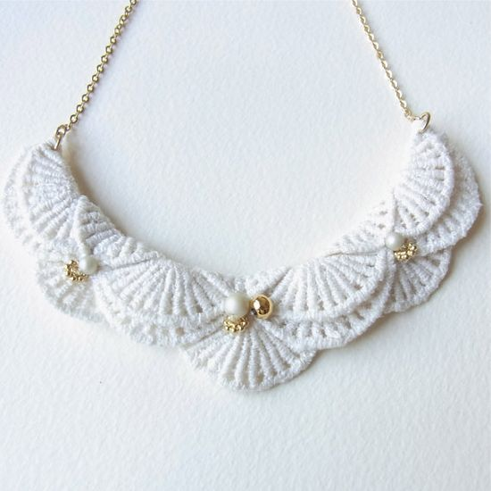 An Meru Lace Necklace  Limited edition by HOMAKO on Etsy