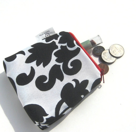 Business Card Holder Small Pouch Change by SmiLeaGainCreations, $6.00