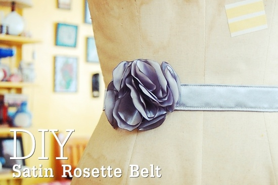tutorial: how to make a satin rosette belt