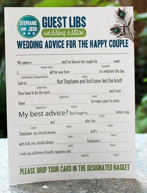 Wedding Guest Libs! How fun!