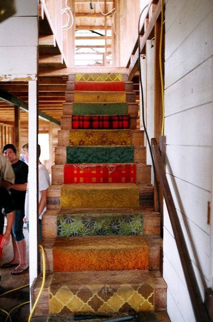 Colourful Stairs at Nate Saint House