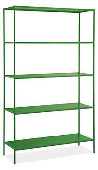 Room & Board slim shelves