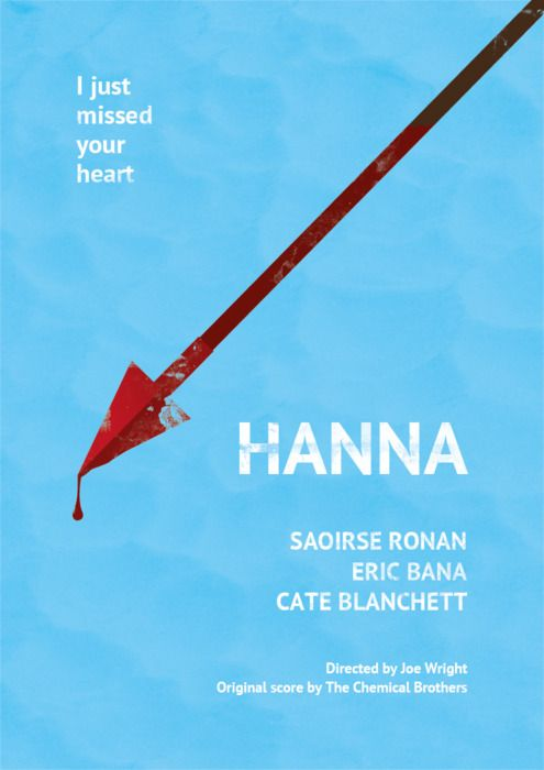 Hanna minimalist movie poster