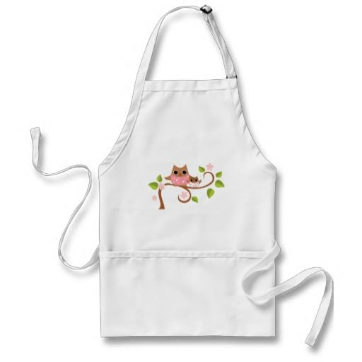 Mama and Baby #Owls Aprons