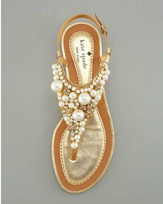 Pearl sandals :) Kate Spade ?