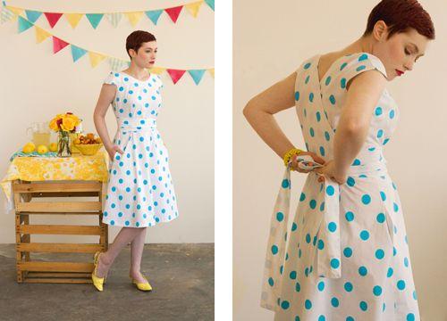 Sewing pattern: wrap dress