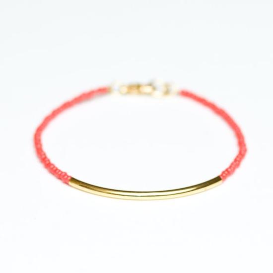 gold dipped bar bracelet