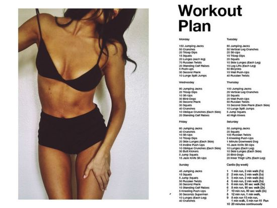 Current Workout Schedule