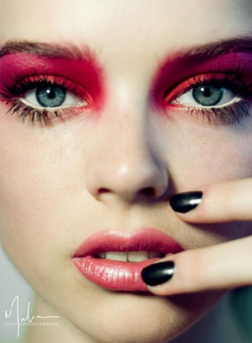 fuschia to the brow