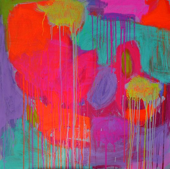 """Saatchi Online Artist: Francesca Spille for 'PUNKTURE'; Acrylic, 2012, Painting """"'Deliver me from reasons why'"""" #art"""