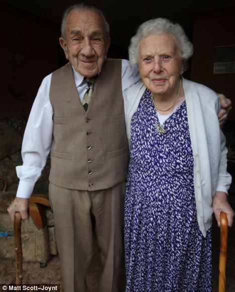 """Lionel, 99, and his wife Ellen Buxton, 100, met in March 1930, married on July 18th 1936 and have been inseperable ever since.  The couple, together a total of 82 years, have not spent more than one night apart.  Upon speaking of their marriage, Ellen says:      """"We have never been apart really and have never wanted anyone else. We have been married happily because we have been good friends as well as husband and wife.      We have always made sure we have had nice evenings out together. Whet..."""