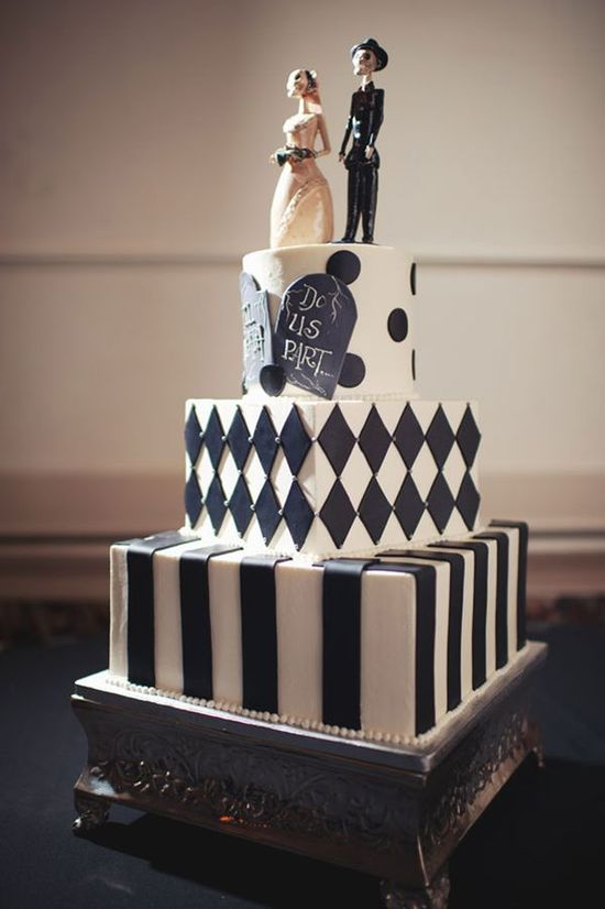 A Halloween wedding cake