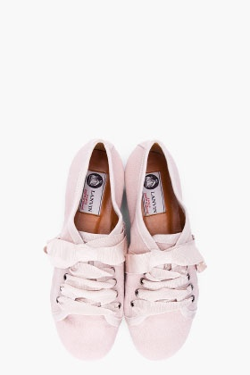 LANVIN //  LIGHT PINK ESPADRILLE SNEAKERS