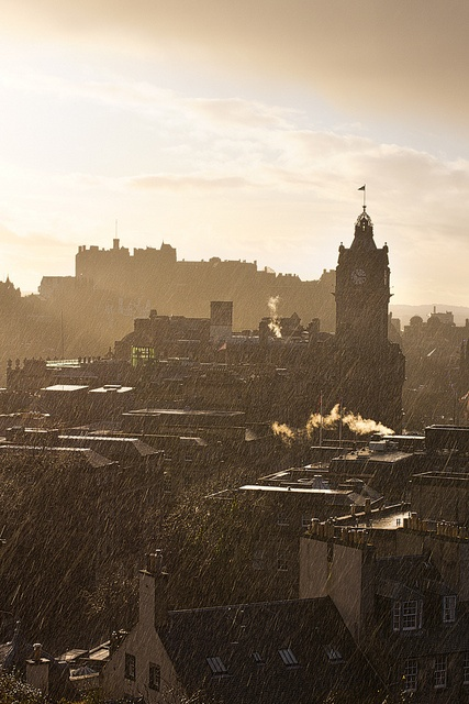 Rainy Day in Edinburgh