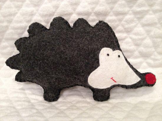 Woodland Hedgehog pocket pal stuffed animals by memeandsaysay, $13.00