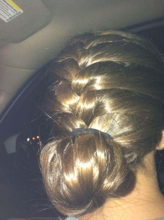French braid Bun :)