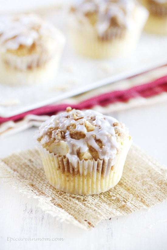 Amaretto Apple Streusel Cupcakes from @Katie