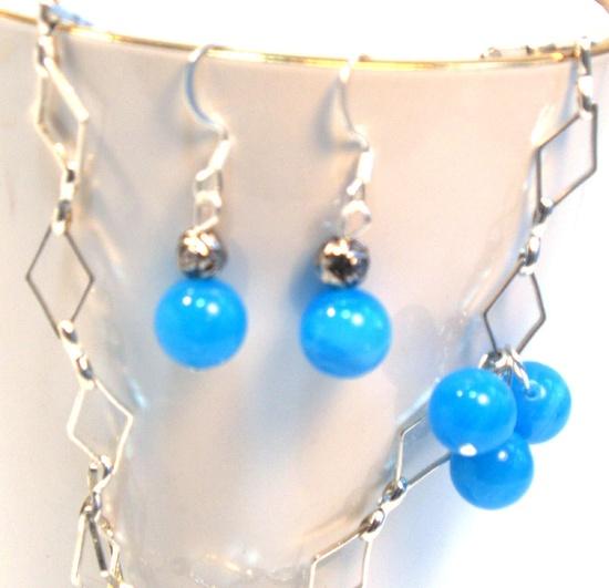 $7.25  Hanukkah Blue Earrings