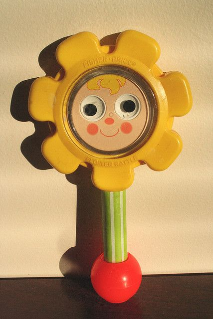 flower rattle circa 1973. I still have mine!!!!