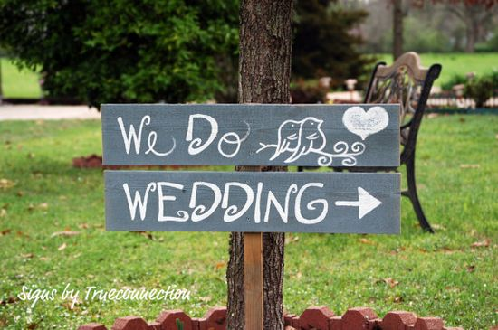 Wedding Signs Romantic Outdoor Weddings LARGE by TRUECONNECTION, $60.00