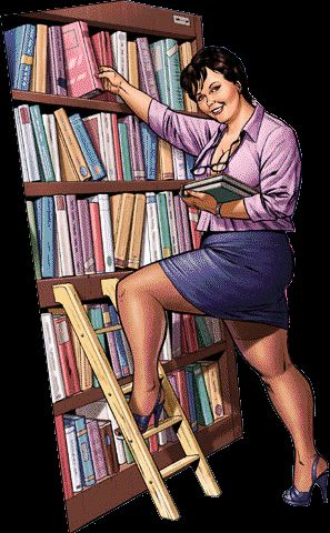 bbw pin-up ..... C'est tellement moi! Je suis déjà pris pour un bibliothécaire. Lol!