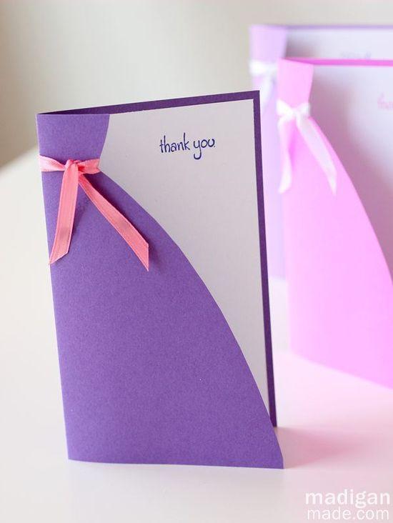 Will You Be My Bridesmaid Idea: Handmade Card ~ Madigan Made { simple DIY ideas }
