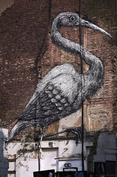 'Crane' by Roa in Brick Lane, East London.