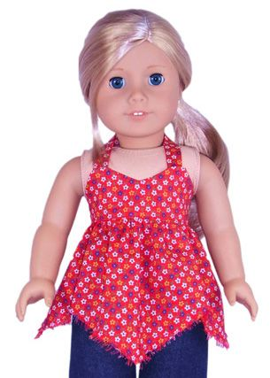 18 Inch and American Girl Doll Clothes Patterns  Handkerchief Top