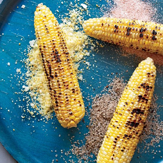 Corn on the Cob with Seasoned Salts // More Grilled Corn Recipes: www.foodandwine.c... #foodandwine