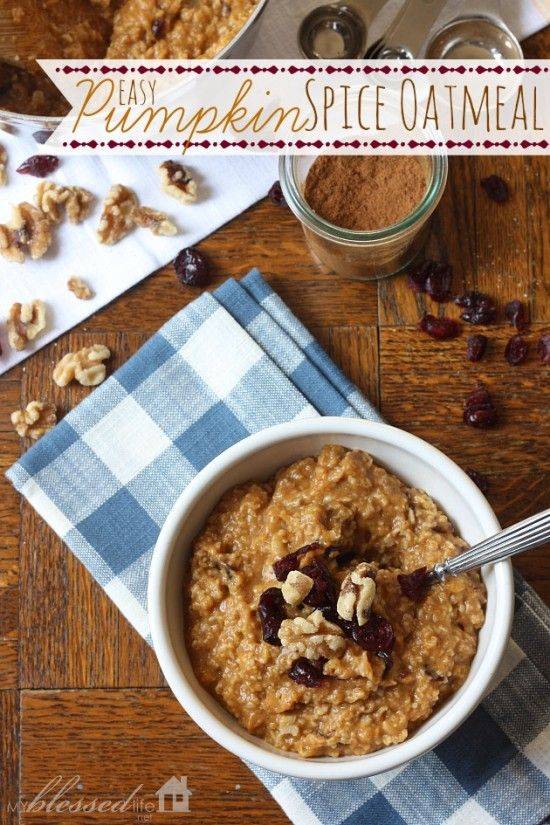 Easy Pumpkin Spice Oatmeal