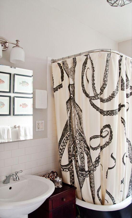 Octopus shower curtain!