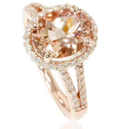 Morganite & Diamond Engagement Ring perfection