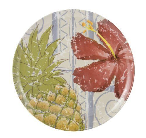 Zak Designs Lanai 10-Inch Melamine Dinner Plate by Zak Designs. $5.79. Island influenced Lanai design adds a fun and spirited presence to any table; coordinates with Zak's solid olive green dinnerware (sold separately). 10-Inch dinner plate by Zak Designs. Long lasting; easy care; dishwasher safe. Made of 100-Percent melamine; durable and versatile; can be used indoors and outdoors; light weight, more resilient to drops and dings than porcelain and ceramic. Tested BPA...