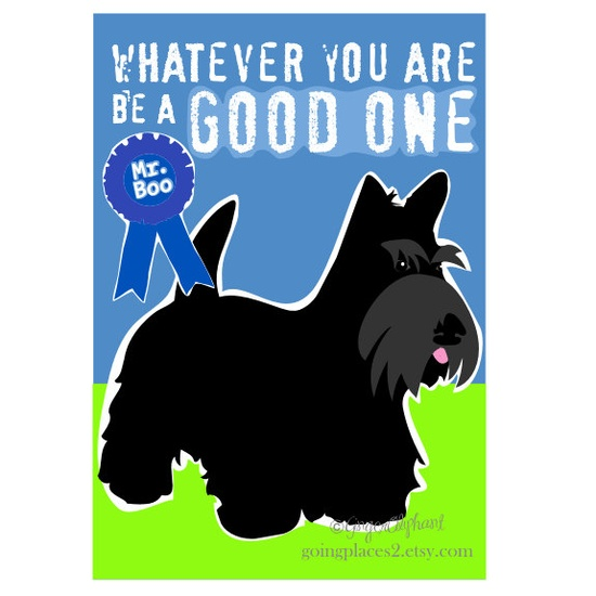 Scottish Terrier Art Print  with Abraham Lincoln by GoingPlaces2, $14.00