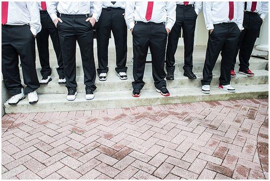 Tampa Wedding Photography // groomsmen wore basketball sneakers