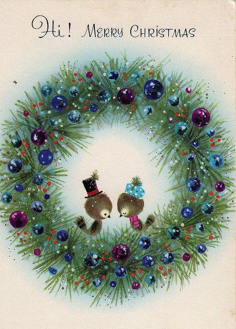 Vintage Christmas card.