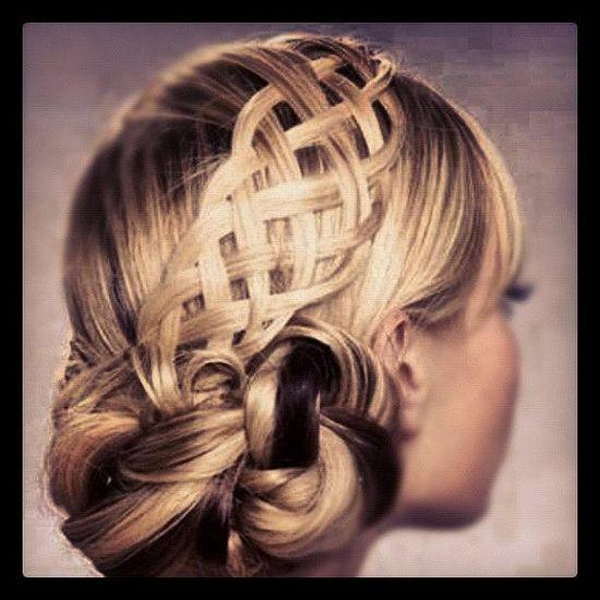 Basketweave Updo #hair #style