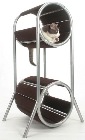 Tall Modern Cat Condo - CatsPlay.com - Fun furniture, condos and climbing gyms for cats and kittens.    www.catsplay.com/...