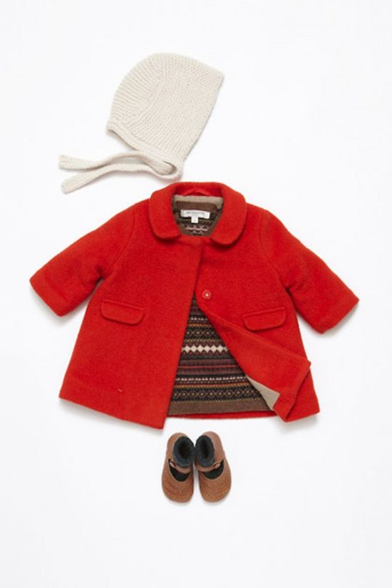 Caramel Baby and Child for fall/winter 2013 a gorgeous red coat, might this be a choice for the royal baby next winter?