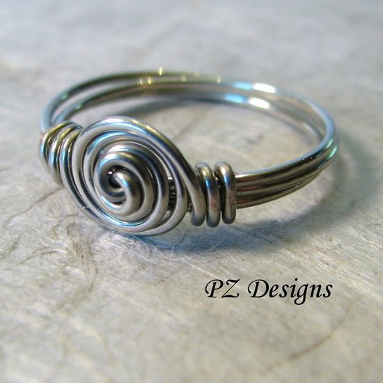 This is a really good run down on how to get started with wire-wrapped jewelry. It made me really keen to give it a try. The ring in the image looks simple enough to try out. Also it helps with tools and tool cheats.  --- Free Time Crafts: DIY: Simple Wire-Wrapped Ring Tutorials