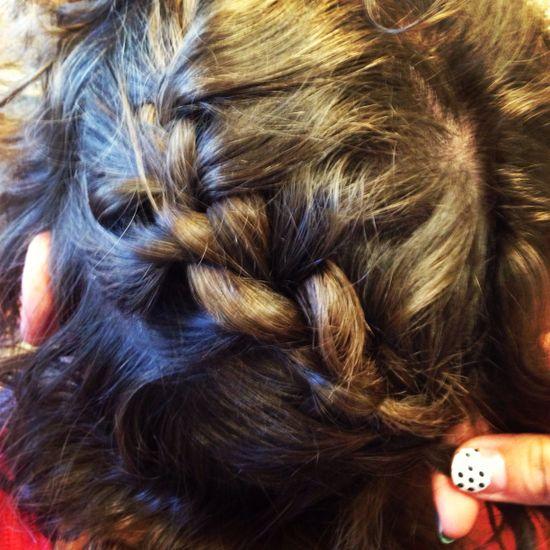 Braided hair swag
