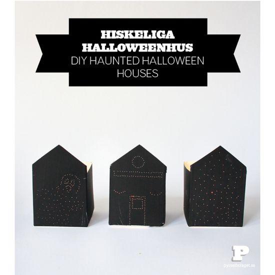 DIY haunted Halloween houses