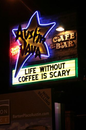 Life without coffee is scary