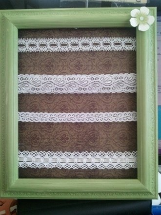 Hang your earrings on this do it yourself earring holder.