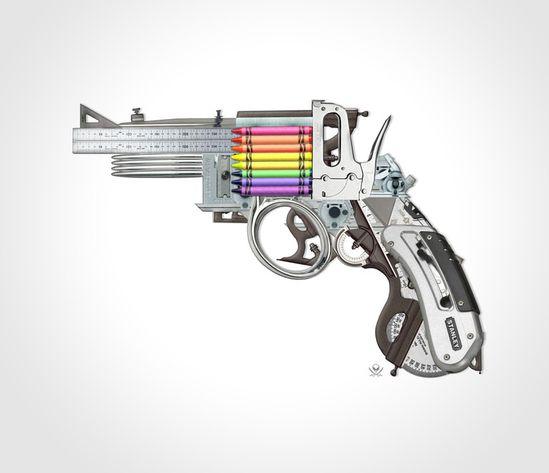 """Saatchi Online Artist: Mark Fitz; Photomanipulation, Digital """"Creative Gun"""""""