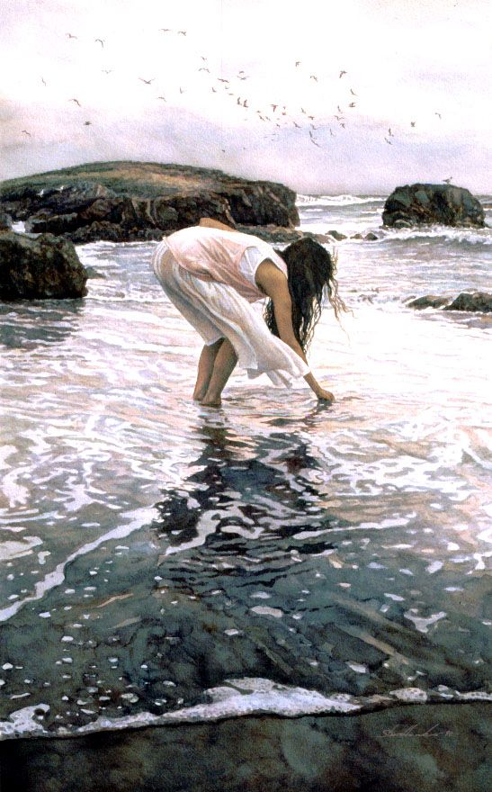 Conferring with the Sea: Steve Hanks, Watercolor