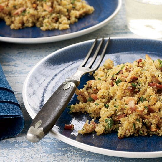Bacon Quinoa with Almonds and Herbs // Top 10 Fast Sides: www.foodandwine.c... #foodandwine