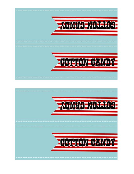 Carnival party printable freebies