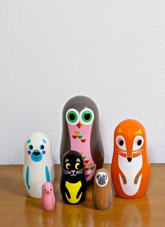 Animal Babushka kid toy