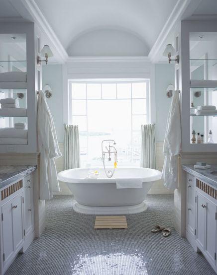 Master Bathroom #bathroom #tub #white